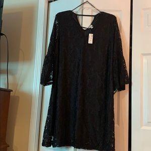 AVENUE GORGEOUS BLACK ALL LACE DRESS